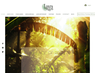 layaspaandyoga.com screenshot