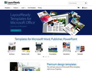 layoutready.com screenshot