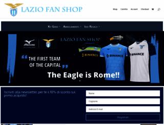 laziofanshop.com screenshot
