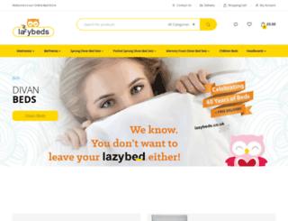 lazybeds.co.uk screenshot