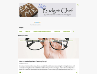 lazybudgetchef.blogspot.com screenshot