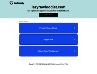 lazyrawfoodist.com screenshot