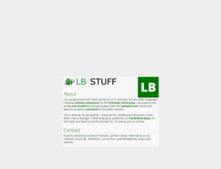 lb-stuff.com screenshot