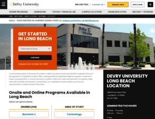 lb.devry.edu screenshot