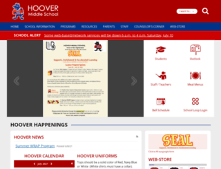 lbhoover.schoolloop.com screenshot