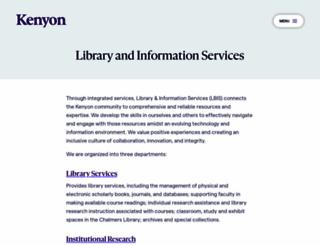 lbis.kenyon.edu screenshot