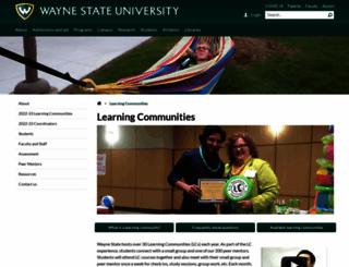 lc.wayne.edu screenshot