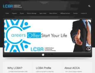lcba.edu.pk screenshot