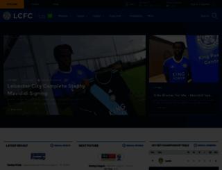 lcfc.co.uk screenshot