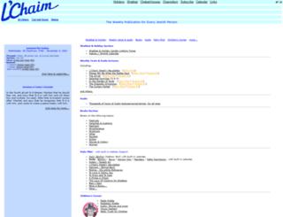 lchaimweekly.org screenshot