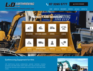 ldearthmoving.com.au screenshot