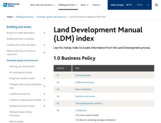 ldm.melbournewater.com.au screenshot