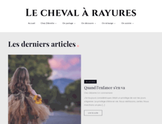 le-cheval-a-rayures.fr screenshot