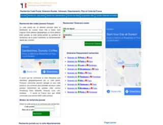 le-codepostal.com screenshot