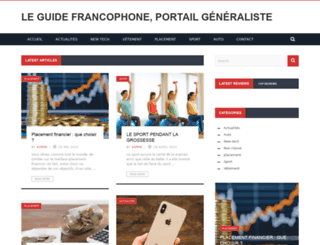 le-guide-francophone.fr screenshot
