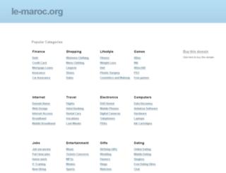 le-maroc.org screenshot