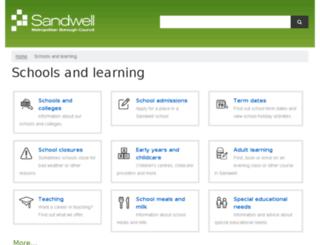lea.sandwell.gov.uk screenshot