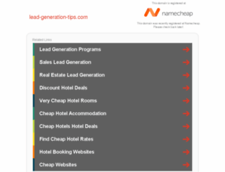 lead-generation-tips.com screenshot