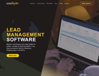 leadbyte.com screenshot