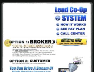 leadcoopsystem.com screenshot