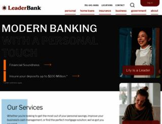 leaderbank.com screenshot