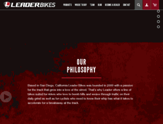 leaderbikeusa.com screenshot