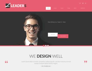 leaders.modernwebtemplates.com screenshot