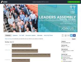 leadersassembly2016.sched.org screenshot