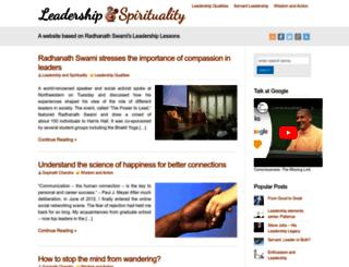 leadershipandspirituality.com screenshot