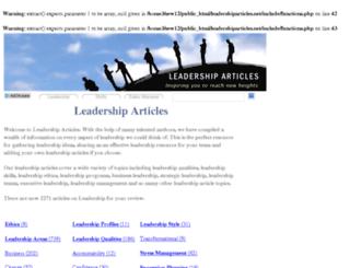 leadershiparticles.net screenshot