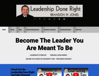 leadershipdoneright.com screenshot