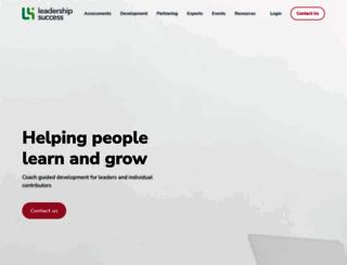 leadershipsuccess.edu.au screenshot