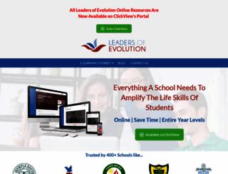 leadersofevolution.com screenshot