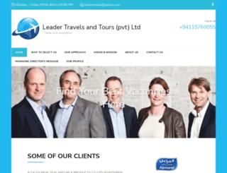leadertravels.com screenshot