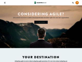 leadingagile.com screenshot