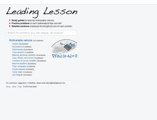 leadinglesson.com screenshot