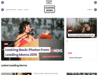 leadingmoms.ca screenshot