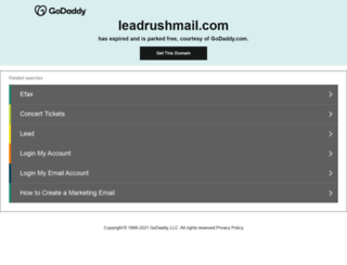 leadrushmail.com screenshot