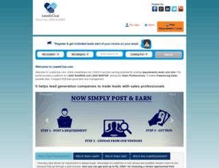 leadsclue.com screenshot