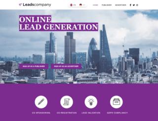 leadscompany.com screenshot