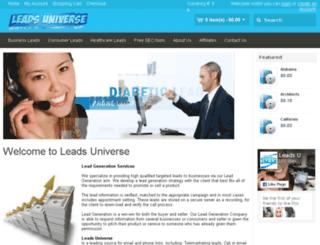 leadsuniverse.com screenshot