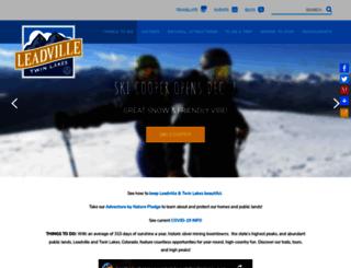 leadvilletwinlakes.com screenshot