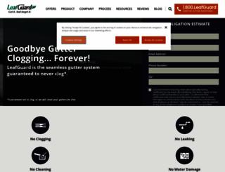 leafguard.com screenshot