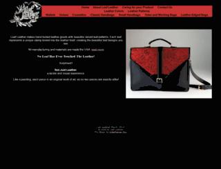 leafleather.com screenshot