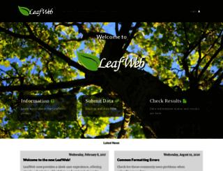leafweb.org screenshot