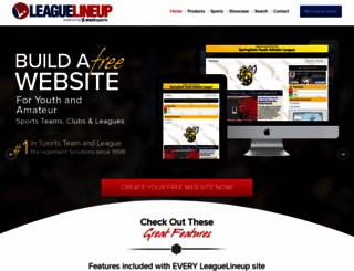 leaguelineup.com screenshot