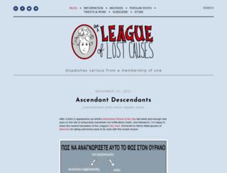 leagueoflostcauses.com screenshot