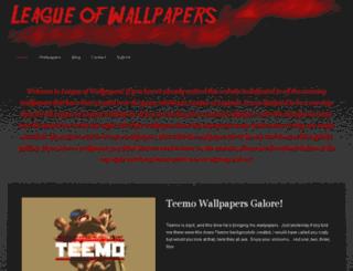 leagueofwallpapers.com screenshot