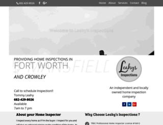 leahysinspections.com screenshot