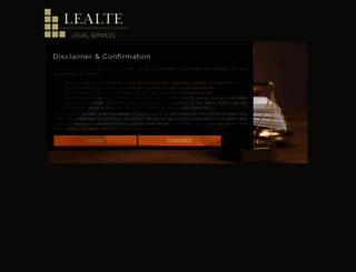 lealte.com screenshot